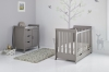 STAMFORD MINI COT BED 2 PIECE ROOM SET - TAUPE GREY