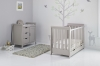 STAMFORD MINI COT BED 2 PIECE ROOM SET - WARM GREY
