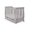 STAMFORD MINI SLEIGH COT BED - WARM GREY