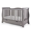 STAMFORD LUXE SLEIGH COT BED - TAUPE GREY