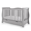STAMFORD LUXE SLEIGH COT BED - WARM GREY