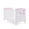 TINY TATTY TEDDY COT BED - PINK (FREE FOAM MATTRESS)
