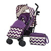 ZEAL STROLLER BUNDLE - ZIGZAG PURPLE (FREE CARRYCOT)