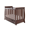 STAMFORD MINI SLEIGH COT BED - WALNUT