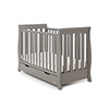 STAMFORD MINI SLEIGH COT BED - TAUPE GREY
