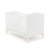 OBABY WHITBY COT BED - WHITE (FREE SPRUNG MATTRESS)
