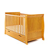 STAMFORD SLEIGH COT BED - COUNTRY PINE
