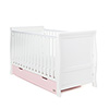 STAMFORD CLASSIC SLEIGH COT BED - WHITE with ETON MESS