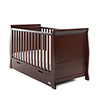 STAMFORD SLEIGH COT BED - WALNUT