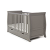 STAMFORD CLASSIC SLEIGH COT BED - TAUPE GREY
