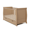 STAMFORD SLEIGH COT BED - ICED COFFEE