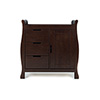 LINCOLN SLEIGH CHANGING UNIT - WALNUT