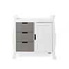 STAMFORD CHANGING UNIT - WHITE with TAUPE GREY