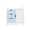 STAMFORD CHANGING UNIT - WHITE with BONBON BLUE