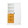 STAMFORD DOUBLE WARDROBE - WHITE with COUNTRY PINE