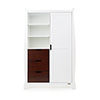 STAMFORD DOUBLE WARDROBE - WHITE with WALNUT