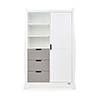 STAMFORD DOUBLE WARDROBE - WHITE with TAUPE GREY