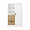 STAMFORD DOUBLE WARDROBE - WHITE with ICED COFFEE