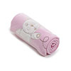 B IS FOR BEAR APPLIQUED FLEECE BLANKETS - PINK