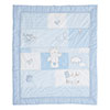 B IS FOR BEAR QUILT & BUMPER 2 PC SET - BLUE