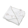 B IS FOR BEAR HOODED TOWEL SET - WHITE