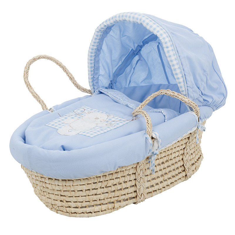 B Is For Bear Moses Basket Blue